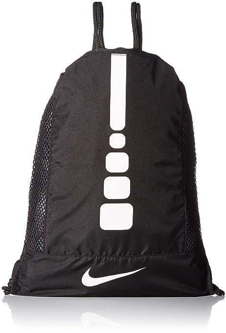 2d29ba4a491 Amazon.com  Nike Men s Hoops Elite Basketball Gym Sack (Black Black ...