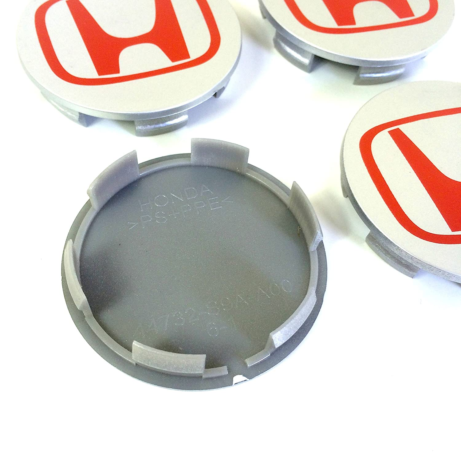 Set of 4/Honda Alloy Wheel Centre Caps Wheel centre covers 68/mm Accord Civic Type R GT Sport 2.0/i-VTEC Turbo EP3/FN2/and Other Models Black // Red Logo Badge