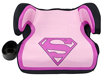 KidsEmbrace Supergirl Booster Car Seat DC Comics Youth Backless Pink 4801SPG