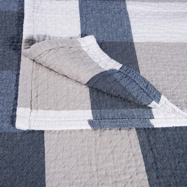 HOLISTAR Couvre lit 150x200cm Couverture de lit matelass/é literie Qualit/é Bleu