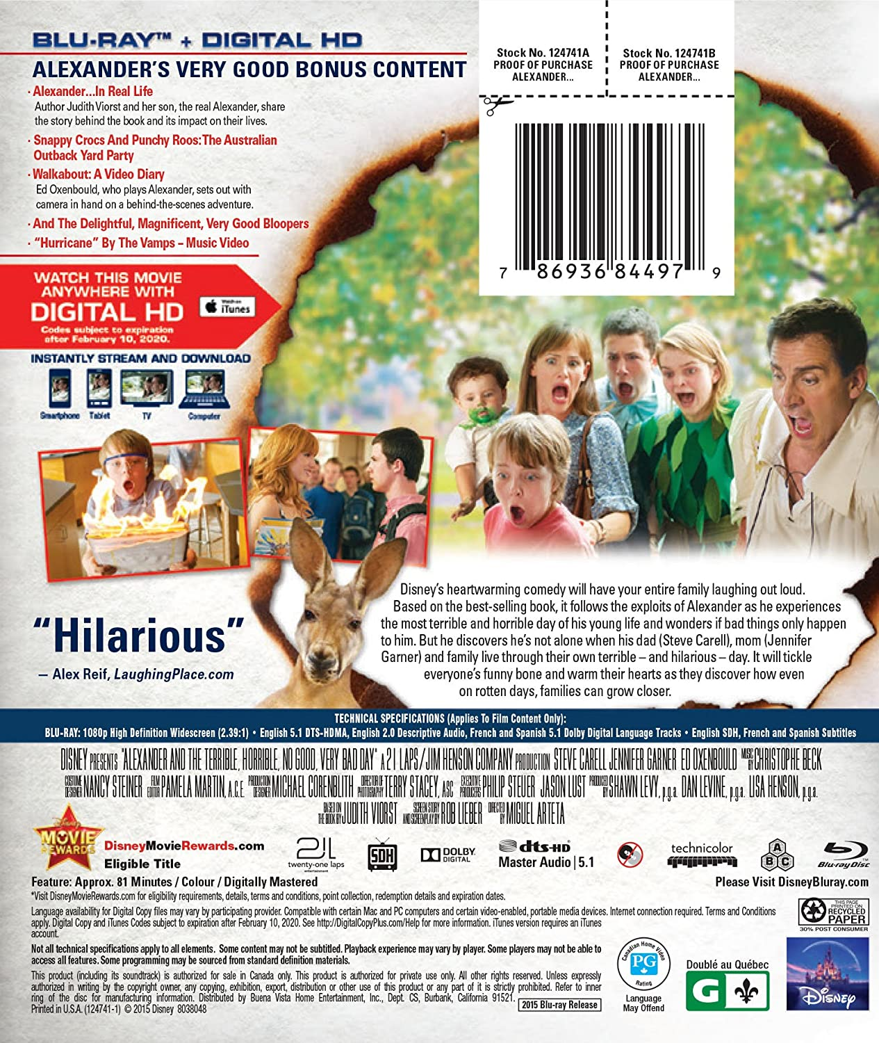 Cendrillon 2 How To Eat Fried Worms Alexander & The Terrible Horrible No  Good Very Bad Bluray Us Import: Amazon: Dvd