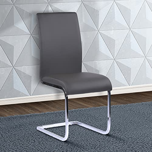 Armen Living Amanda Dining Chair, Dining Height, Gray
