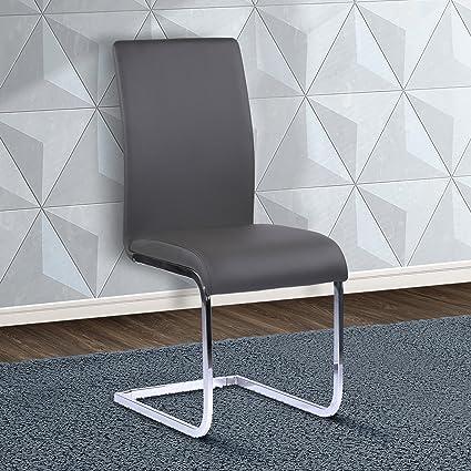 Amazoncom Armen Living Lcamsigr Amanda Dining Chair Set Of 2 In