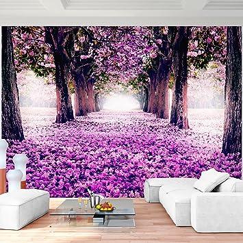 Fototapete Wald Park 352 x 250 cm Vlies Wand Tapete Wohnzimmer ...