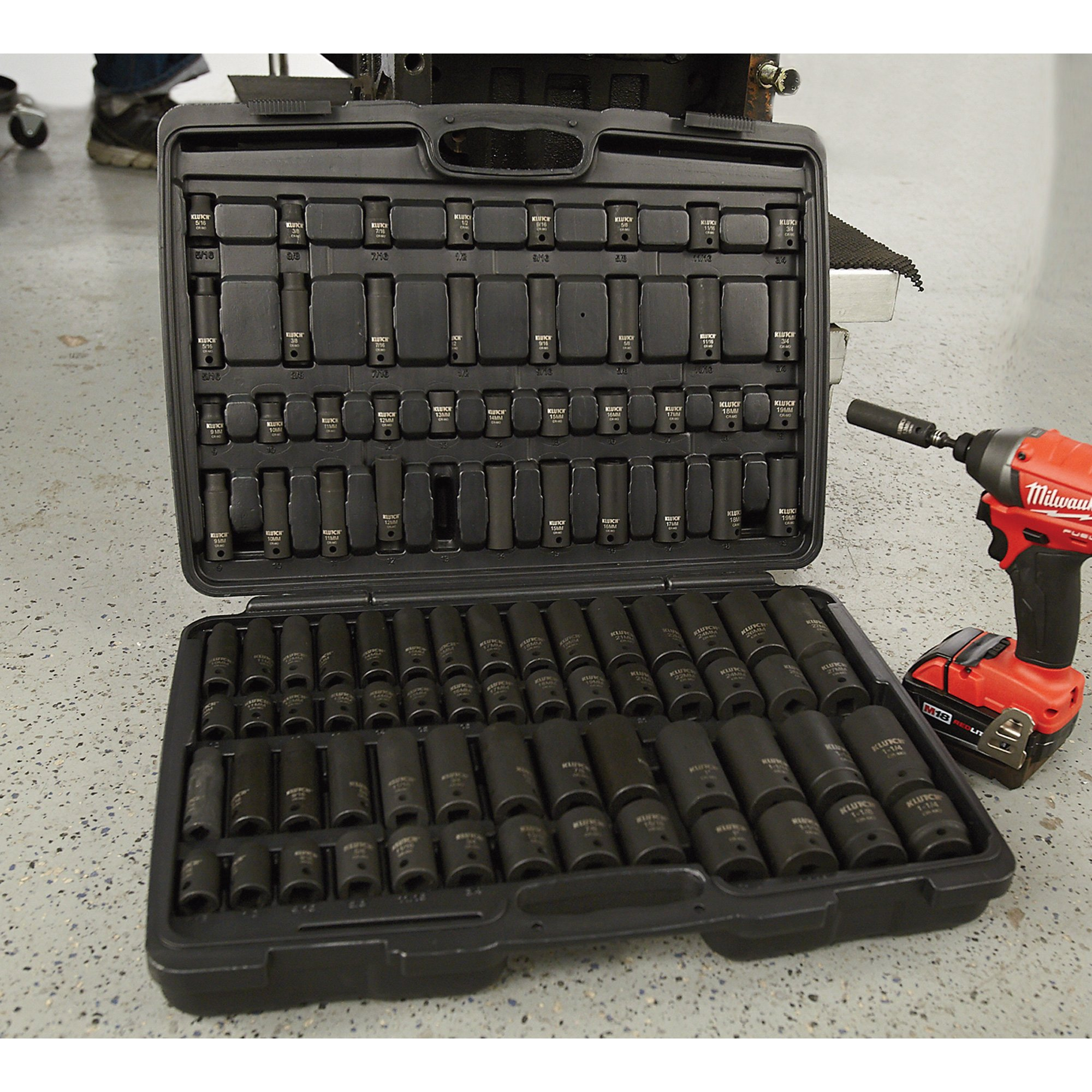 Klutch Impact Socket Set - 94-Pc, 3/8in.- & 1/2in.-Drive by Klutch (Image #4)