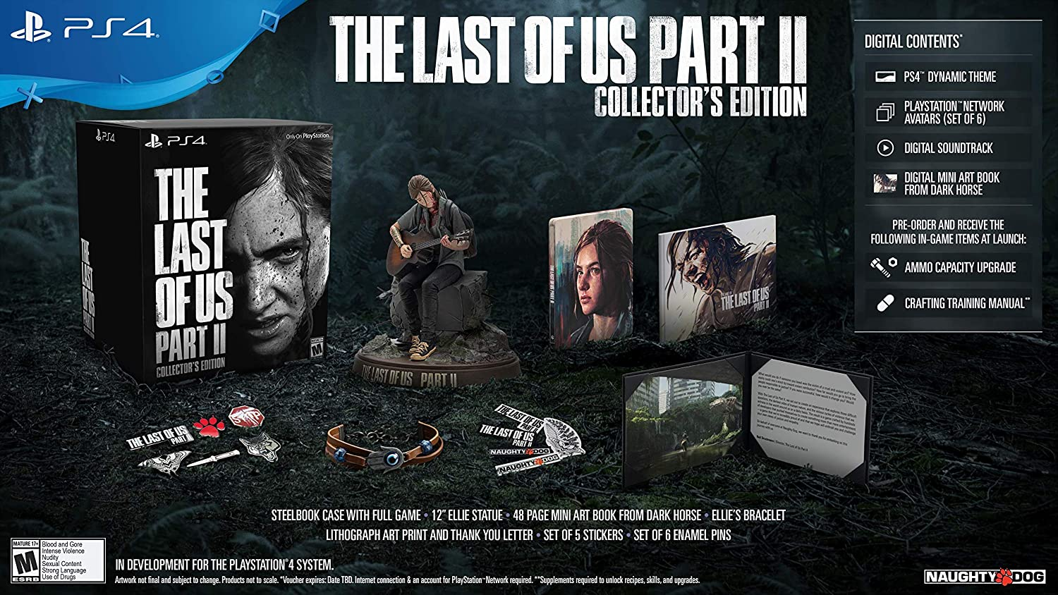 The Last Of Us Part Ii Playstation 4 Collector S Edition Video Games