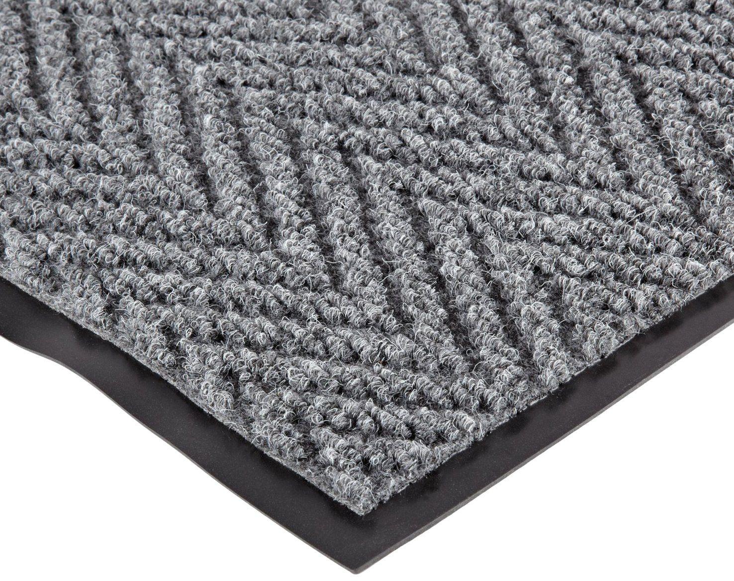 NoTrax 118 Arrow Trax Entrance Mat, for Main Entranceways and Heavy Traffic Areas, 3' Width x 5' Length x 3/8'' Thickness, Gray