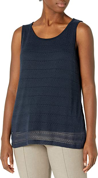 Jones New York Mujer JMMiA51568 Sin Mangas Camisa sin Mangas ...