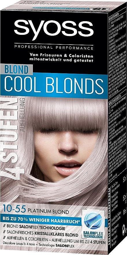 syoss Rubio Cool blonds 10 – 55 Platinum Rubio Nivel 3, 3 ...