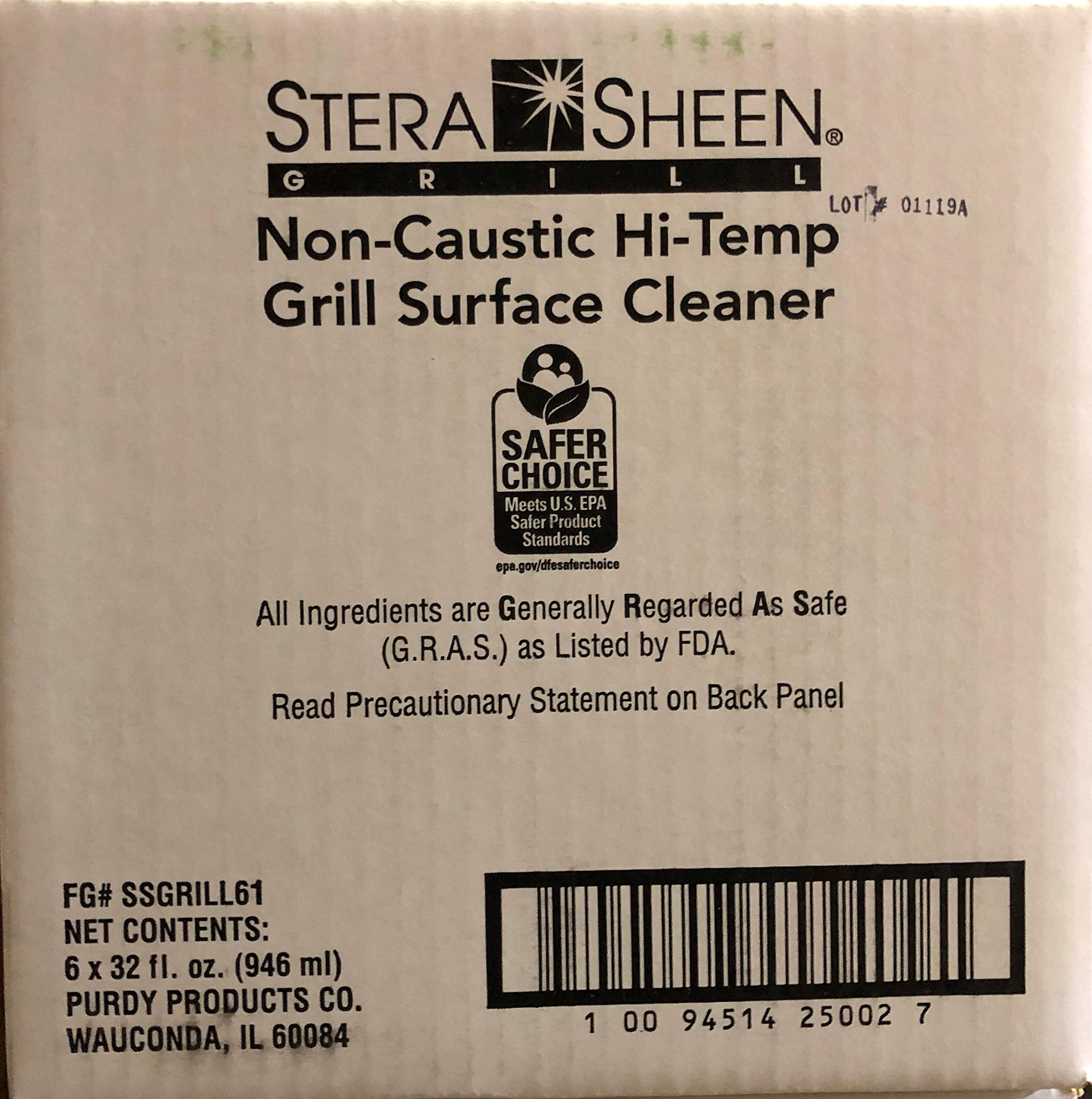 Stera-Sheen | 6 x 32 fl. Liquid Grill Cleaner | Food-Safe Non-Caustic Hi-Temp Grill Surface Cleaner | SSGRILL61 Purdy Products | Clean Hot Surfaces, Eliminate Tough Encrusted Grease | (6 x 946ml) by Stera Sheen Products (Image #4)