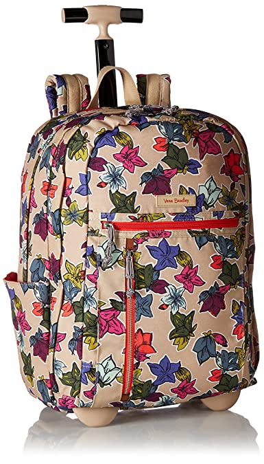 Vera Bradley Women s Lighten up Rolling Backpack 6e8dde52dd976