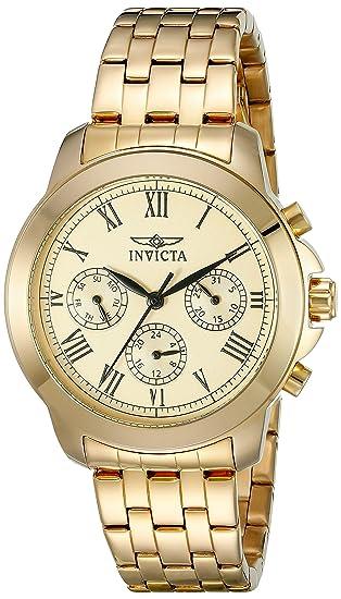 Invicta Women  s 21654 especialidad analógico de cuarzo suizo reloj chapado  en oro 42c561b1b022