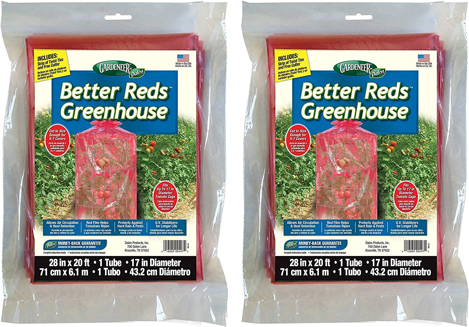 Dalen Products BRG-20 Gardeneer Better Reds Greenhouse Cover for Tomatoes wo ack