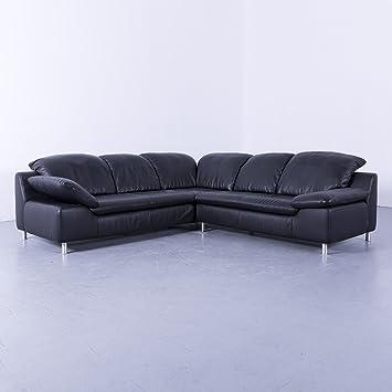 Willi Schillig Designer Leder Ecksofa Schwarz Modern Verstellbar