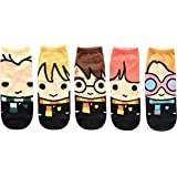 Harry Potter Cute Chibi Character Art Juniors/Womens 5 Pack Ankle Socks