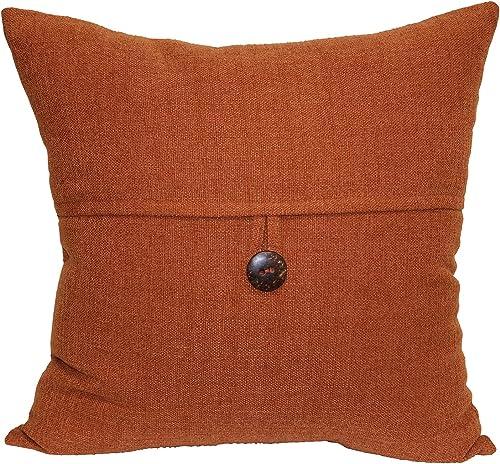 Brentwood Originals Stafford Pillow, 18 x 18 , Spice