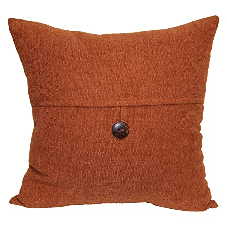 Brentwood Originals Stafford Pillow, 18 x 18 , Spice