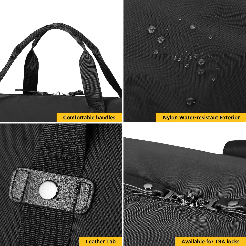 GAGAKU 80L Foldable Travel Duffel Bag Packable Lightweight Duffle Large Flight Cabin Bags for Travel - Black by GAGAKU (Image #3)