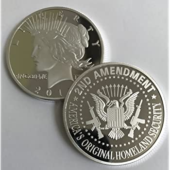 Amazon.com: Aizics Mint 2nd Amendment SILVER Liberty round