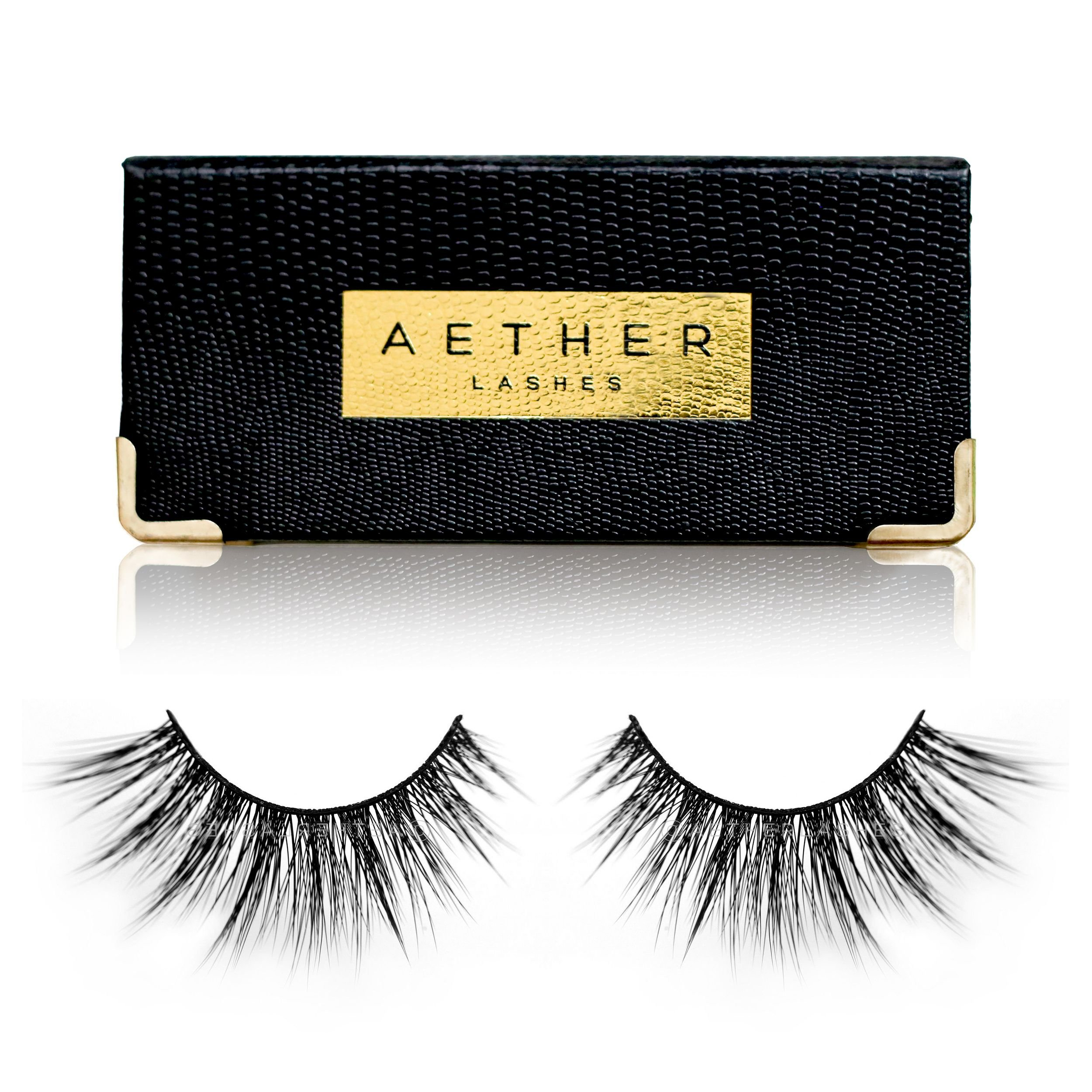 b9ff07c5a97 Amazon.com : Aether Lashes Reusable Cruelty-Free Ultra Soft Lifelike & Natural  False Fake Eyelashes (Belladonna) : Beauty