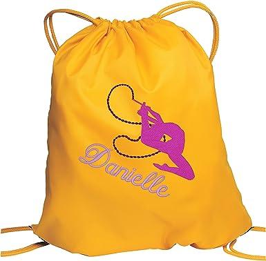 GYMNAST gymnastics gym bag personalised club school sac drawstring sports girls