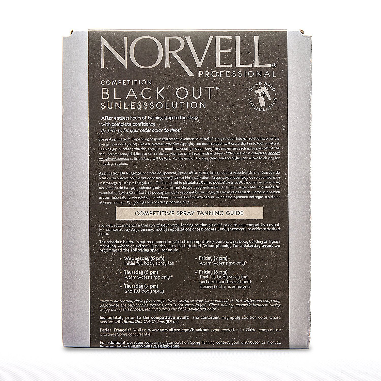 Norvell Premium Sunless Tanning Solution - Competition Black Out, 1 Liter Box by Norvell (Image #2)