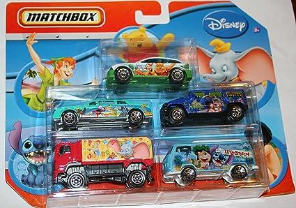 Amazon.com: Matchbox Disney 5 Pack Diecast coches – Little ...
