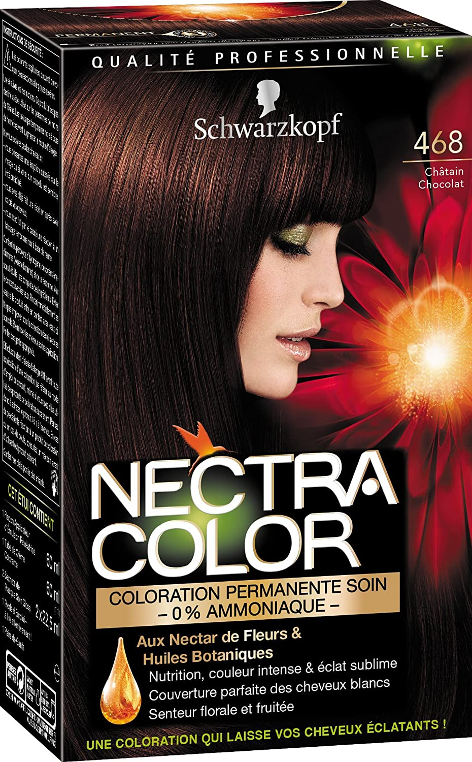 schwarzkopf nectra color coloration permanente 468 chtain chocolat 165 ml - Prix Coloration Schwarzkopf