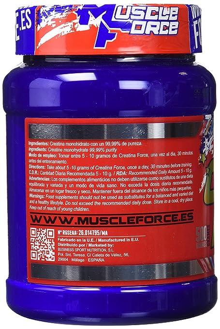 Muscle Force Monohidrato de Creatina, 500 gr
