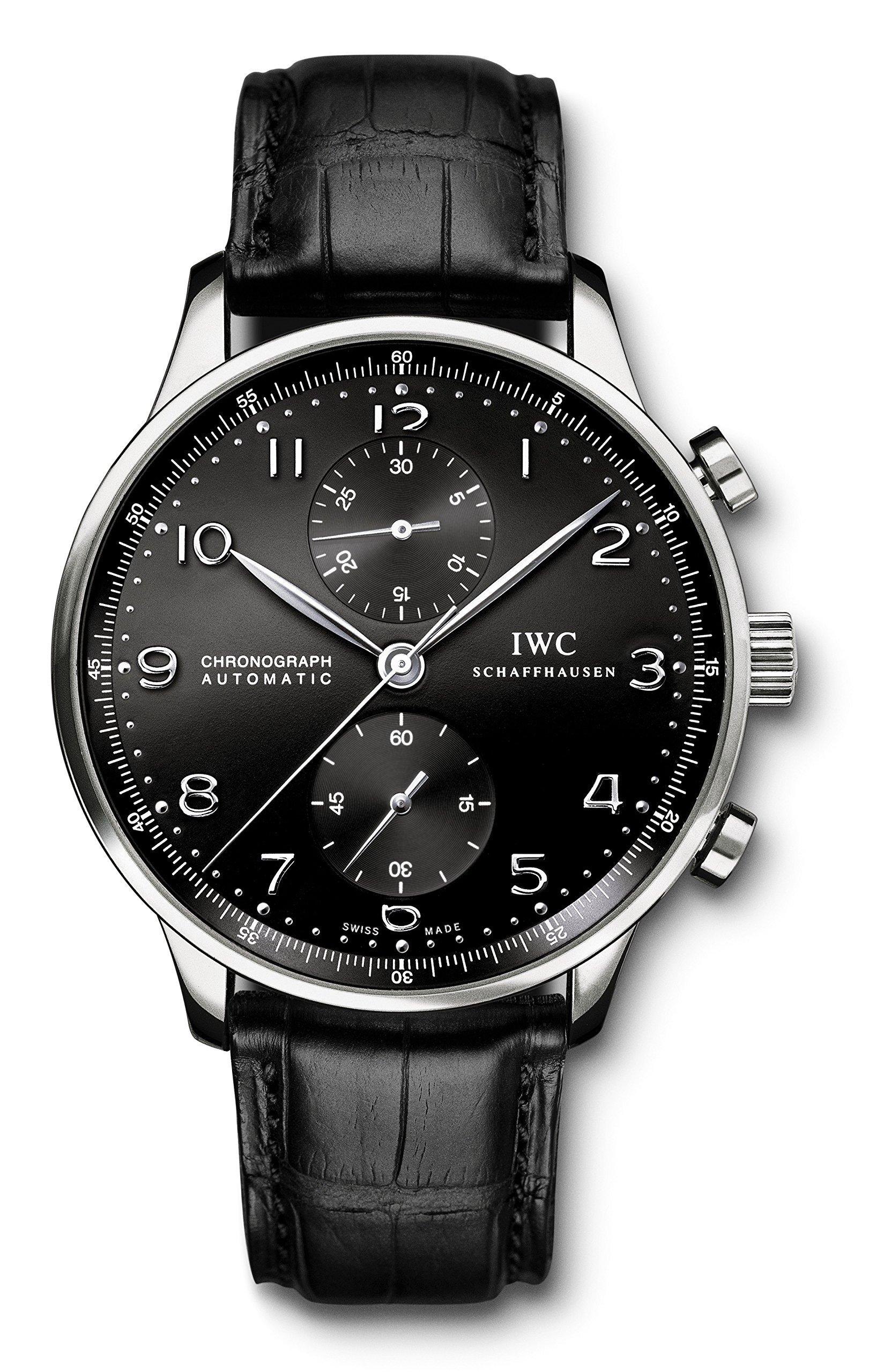 IWC Men's Swiss Quartz Watch with Stainless Steel Strap, Black (Model: IW371447)