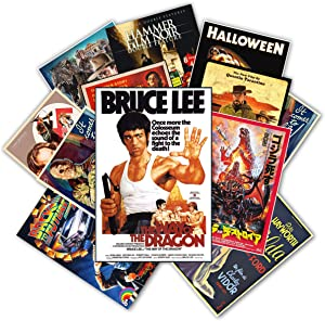 HK Studio Vintage Posters of Retro Movie | Self-Adhesive, Vinyl Decal, Indie Posters for Room Aesthetic 90s | Indie Room Decor Wall Collage Kit | Old-School, Classic Movie Poster 7.8