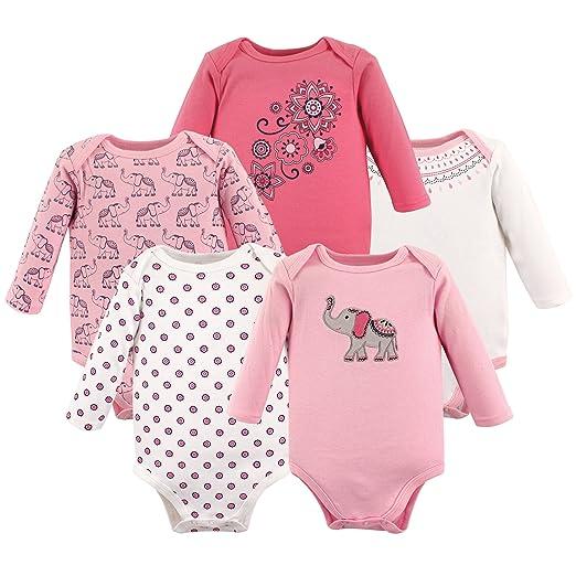 Hudson Baby Baby Cotton Long-Sleeve Bodysuits