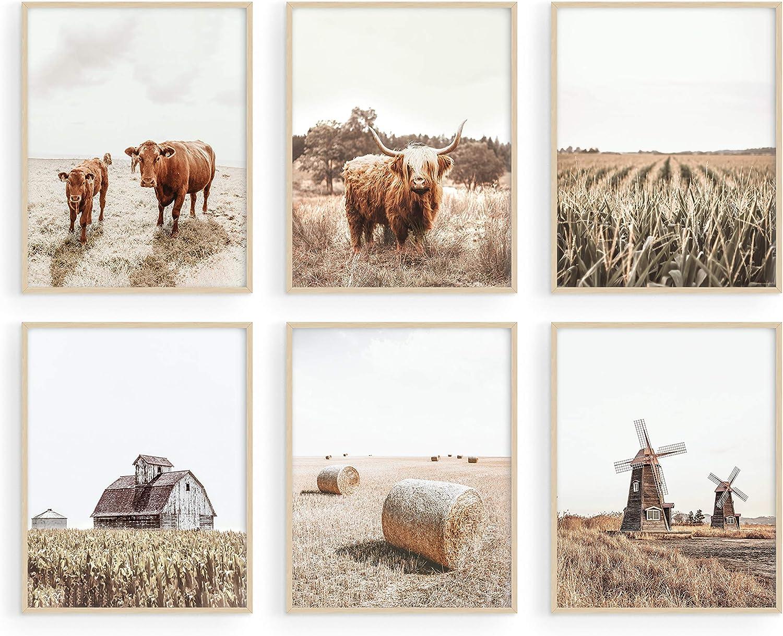 Digital Print Farmhouse Decor Digital Print Highland Cow Cow Digital Download Kitchen Decor Wall Art Baby Shower Shabby Chic Boho