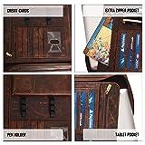 Leather Portfolio for Men Women - Leather