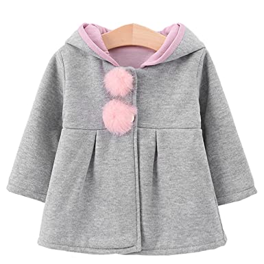 c4ce3238fabc Aiffer 2017 New Baby Girls Toddler Kids Big Ears Hoodie Jackets ...
