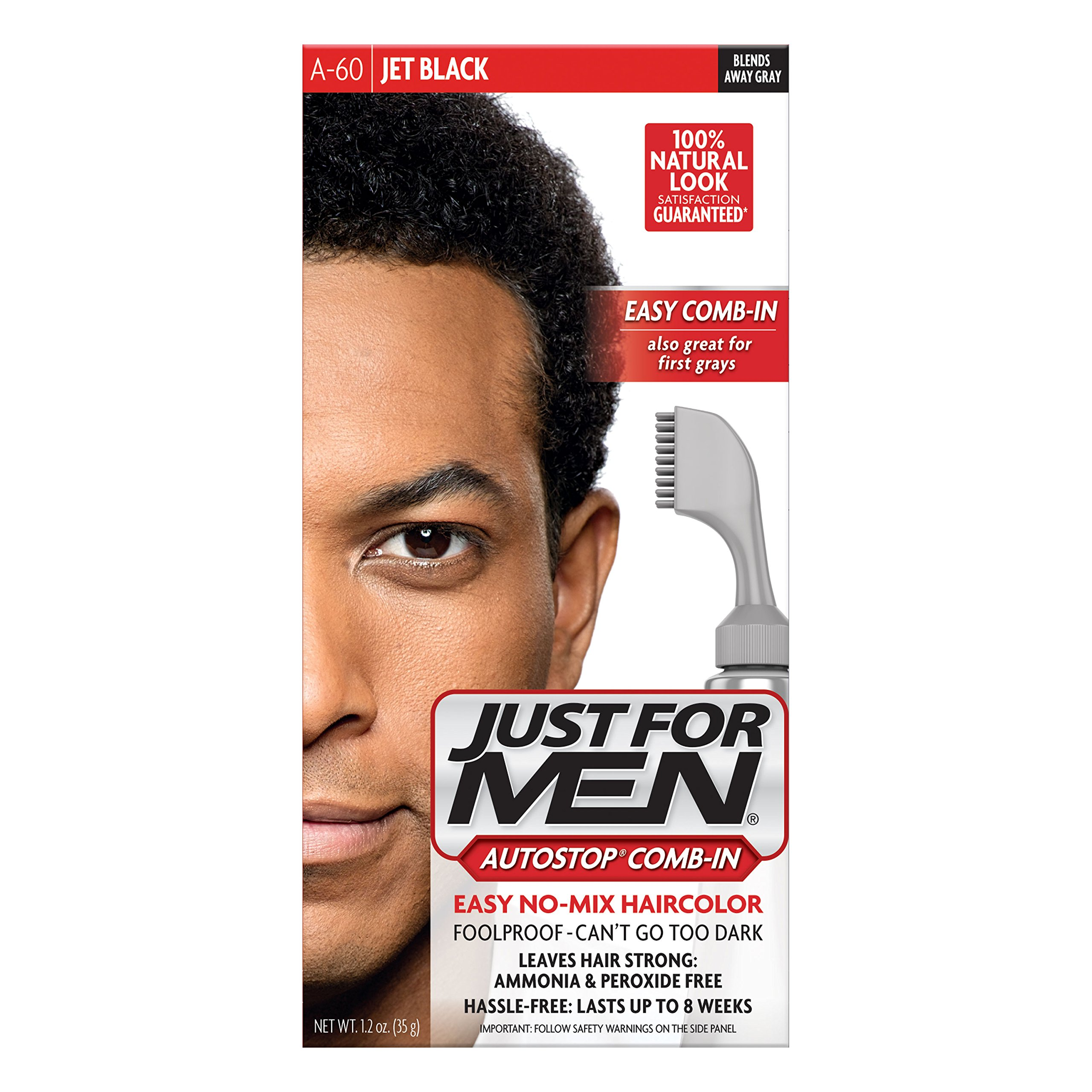 Amazon.com: Just For Men AutoStop Men\'s Comb-In Hair Color, Real ...