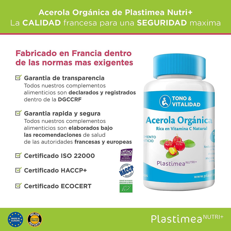 Vitamina C Acerola Orgánica Resfriados Gripes Refuerza Sistema Inmunologico Antioxidante Estres Fatiga Comprimidos Veganos Natural Propiedades Diuréticas ...