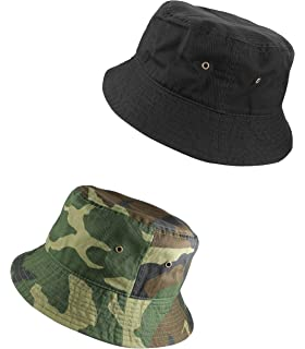 f2026fd6 Gelante 100% Cotton Packable Fishing Hunting Sunmmer Travel Bucket Cap Hat