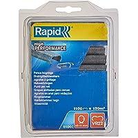 Rapid Ringsklemmen VR22 grijs, 1.100 stuks, voor het bevestigen van spandraaden en hekken, voor FP222 en FP20 hektang