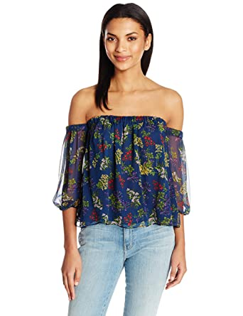 11de7b379075a Amazon.com  Ella Moss Women s Poetic Garden Off The Shoulder Blouse   Clothing
