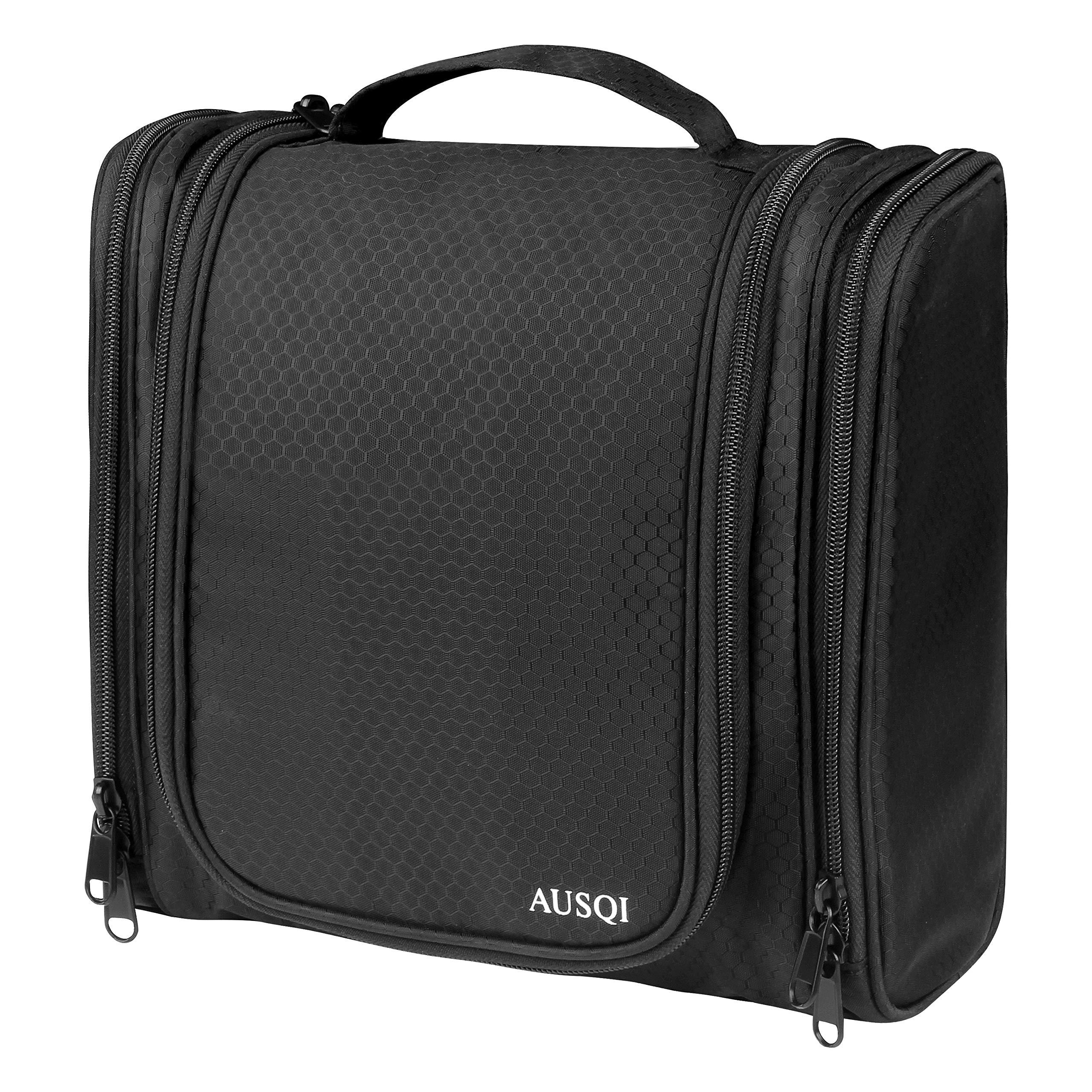 AUSQI Hanging Travel Toiletry Bag Waterproof Cosmetics Organizer Bag Multifunction Bathroom Shower Bag, Top Gifting Idea For Men & Women