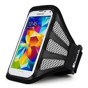 Fashion Mesh Nylon Gym Workout Running Armband for Apple iPhone 8 / X/Samsung Z4/ J1 Mini Prime/Sony Xperia XZ1 Compact/BLU Dash L5 L4 LTE