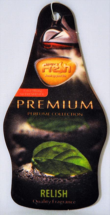 Amazon.com: Fresh Way PDF05 - Dry Premium Air Freshener (Relish) 3 pack: Automotive