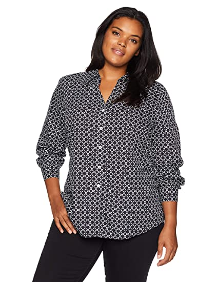 11f2a3822267f Foxcroft Plus Size Womens Mary Non Iron Dot at Amazon Women s Clothing  store