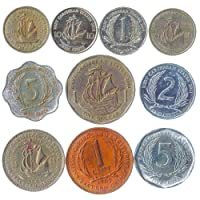 Hobby of Kings 10 Old Coins from East Caribbean States (OECS). Collectible Coins Dollar, Cents. Perfect Choice for Your Coin Bank, Coin Holders and Coin Album