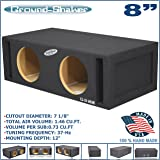 "8"" Dual Vented Slot Ported Sub Box Tuned 37Hz Subwoofer Enclosure Ground-Shaker"