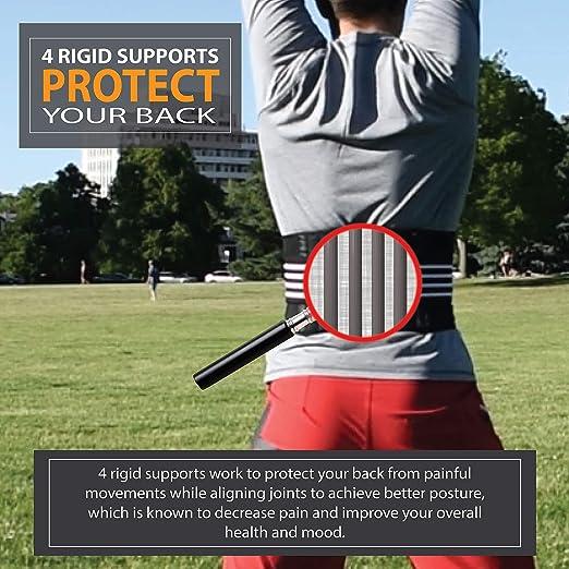 Amazon.com: FitBack Lumbar Support Back Brace Belt w/Battery ...