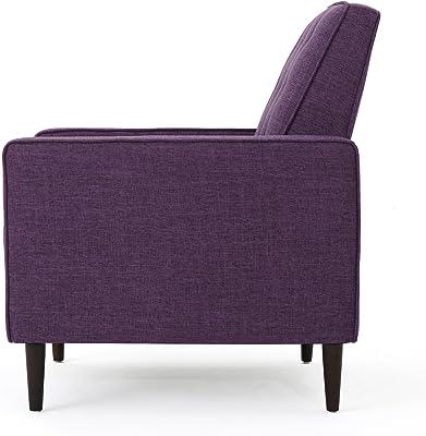 Mason Mid-Century Modern Tuft Back Recliner (Qty of 2, Fabric/Muted Purple)