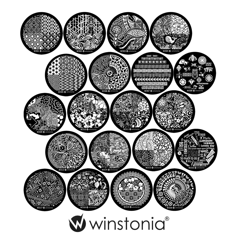 Amazon.com : Winstonia Third Generation Nail Art Stamping Image ...