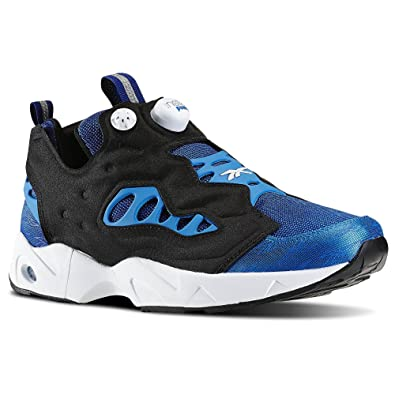 73f021bc076f Image Unavailable. Image not available for. Color  Reebok Mens Instapump  Pump Fury Road Shoe Collegiate Royal Blue Sport White Black